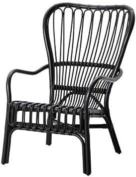 Divano In Rattan Ikea.Amazon Com Ikea Armchair Black Rattan 626 2520 3410 Kitchen