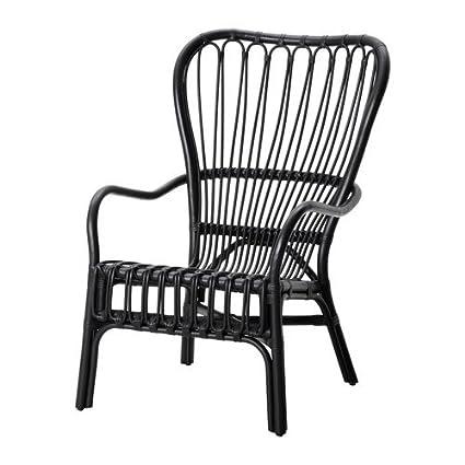 Cool Amazon Com Ikea Armchair Black Rattan 626 2520 3410 Pdpeps Interior Chair Design Pdpepsorg