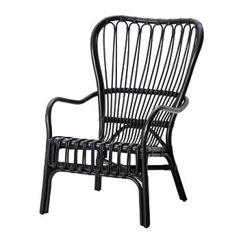 Ikea STORSELE - Respaldo Alto sillón, Negro, ratán: Amazon ...