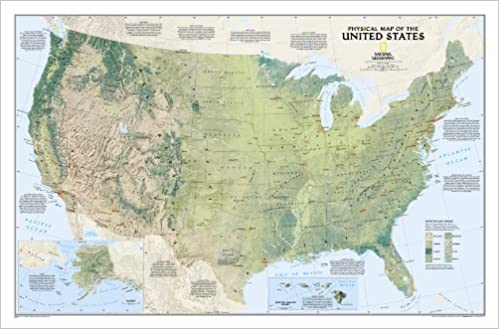 USA physisch: 1:5657000 National Geographic Reference Map: Amazon.de ...