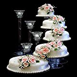 Efavormart Lovely 5 Tier Acrylic Crystal Glass Clear Cake Dessert Decorating Stand For Birthday Xmas Party Wedding