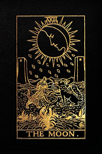 The Moon Tarot Card Notebook, Black and Gold - 120 blank pages - Moon Tarot Card Journal, Sketchbook, Diary (Tarot Card Notebooks): The Moon Tarot Card Notebook ()