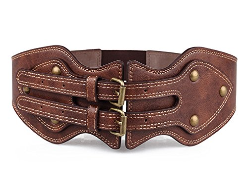 Obi Belt Vintage PU Leather...