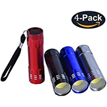 YAOMING Mini Small Flashlight (Pack 4) New Type Cob Light , Clear and Soft