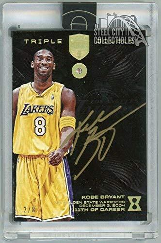 62b66498b Kobe Bryant 2017-18 Panini Kobe Eminence Triple Double Auto Diamond 2 8 No.  11 - Panini Certified - Basketball Slabbed Autographed Cards