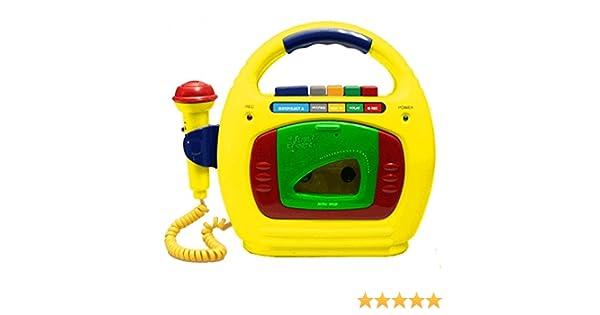 Cassette Infantil con Altavoz y Microfono First Encore! Color Amarillo: Amazon.es: Juguetes y juegos