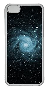 Customized Case Skyviews Space Swirl PC Transparent for Apple iPhone 5C