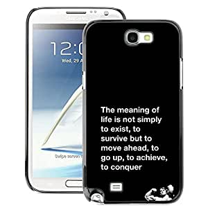 A-type Arte & diseño plástico duro Fundas Cover Cubre Hard Case Cover para Samsung Note 2 N7100 (Meaning Of Life Conquer Fight Exercise)