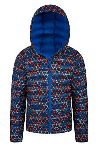 Boys Warehouse Blue Jacket Mountain Printed Seasons Padded Dark 0tAXqdqnw