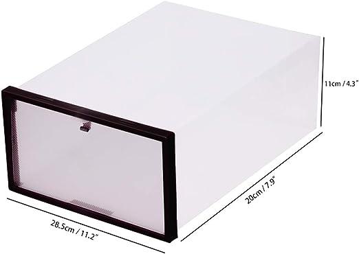 OurLeeme Caja de Almacenamiento de Zapatos, 11.2 * 7.9 * 4.3 ...