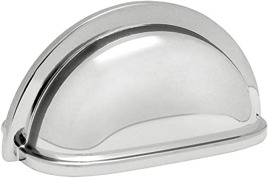 Cosmas 4310ch Polished Chrome Cabinet Hardware Bin Cup Drawer Handle Pull 3 Hole Centers 10 Pack Amazon Ca Home Kitchen