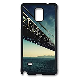 VUTTOO Rugged Samsung Galaxy Note 4 Case, Steel Bridge Architecture Water Hard Plastic Case for Samsung Galaxy Note 4 N9100 PC Black