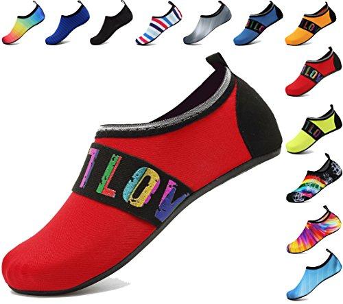 adituo Summer Barefoot Water Skin Shoes Aqua Socks for Men Women 44-45 Lovered