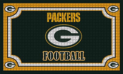 Team Sports America 41Em3811 Green Bay Packers Embossed Door Mat