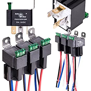 51Cucy30prL._SL500_AC_SS350_ amazon com 5 pack epauto 30 40 amp relay harness spdt 12v bosch