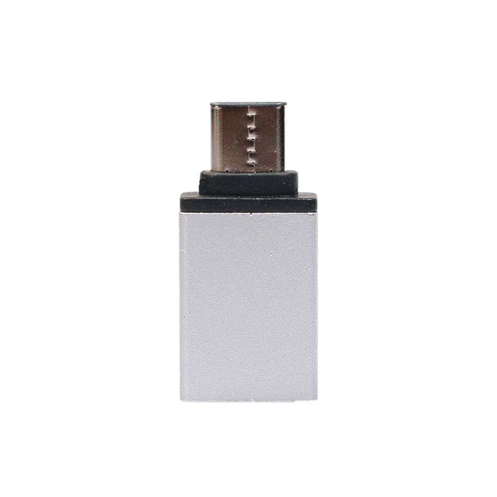 Polwer USB-C 3.1 Type-C to USB OTG Mini Adapter 3.0 Converte for Samsung Galaxy Note 8 (Silver)