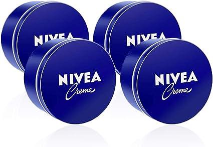 NIVEA Creme en pack de 4 (4 x 250 ml), crema hidratante corporal y facial para toda la familia, crema universal para una piel suave e hidratada, crema multiusos: Amazon.es: Belleza