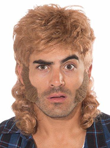 Forum Novelties Men's Mullet Costume Wig, Brown, One Size