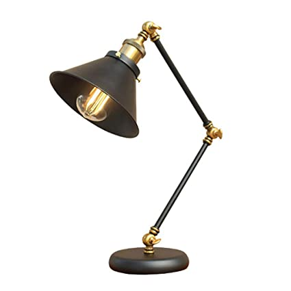 Amazon.com: Lámpara De Mesa, Mesa De Noche, Brazo Oscilante ...