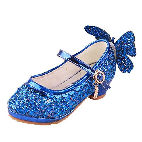 Ohmais Kinder Mädchen flach Freizeit Sandalen Sandaletten Kleinkinder Mädchen Halbschuhe Sandalette Ballerinas Blau