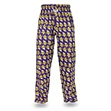 zubaz pants purple - NFL Minnesota Vikings Men's Zubaz Team Logo Print Comfy Jersey Pants, X-Large, Purple