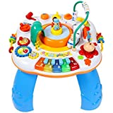 Techhark Multifunctional Activity Table with Train, Music and Piano for Kids - Multicolored (Baby Learning Table) (Round Table)
