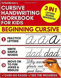Amazon.com: Cursive Handwriting Workbook for Kids: 3-in-1 ...