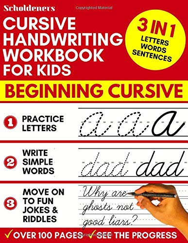 Amazon.com: Cursive Handwriting Workbook for Kids: 3-in-1 ...