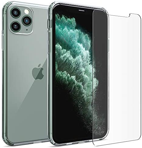 [해외]FlexGear Clear Case for iPhone 11 Pro MAX and 2 Glass Screen Protectors (Clear) / FlexGear Clear Case for iPhone 11 Pro MAX and 2 Glass Screen Protectors (Clear)