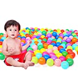 Colorful Fun Palyballs Phthalate Free BPA Free Crush Proof Balls Toy for 2.17in Toddlers and KidsSoft Plastic AirFilled Ocean Ball Pit Balls(50pcs)