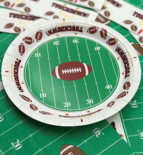 Touchdown Football Theme Party Plates 7