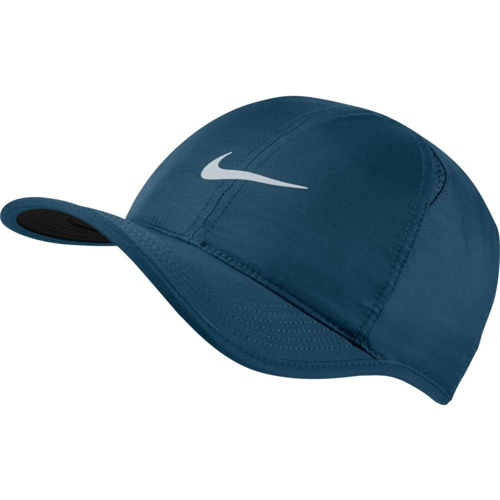 Nike Feather Light Tennis Hat (BLUE FORCE/BLACK/PURE PLATINUM, One Size)