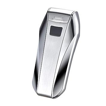 Encendedor eléctrico de doble arco USB recargable, mechero electrónico doble arco de plasma resistente al viento, sensor táctil de control para ...
