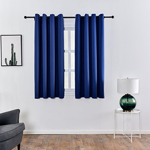 New Tech Fabric Inherent Flame Retardant Blackout Curtain-Window Panel by KEQIAOSUOCAI,1 Panel,Blue,60