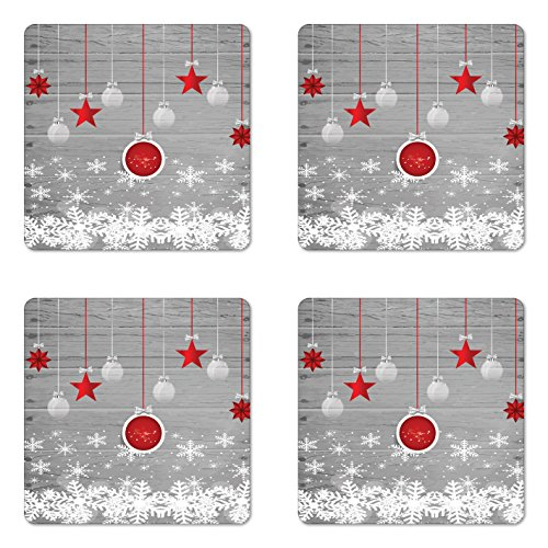 Christmas Coaster Set of Four by