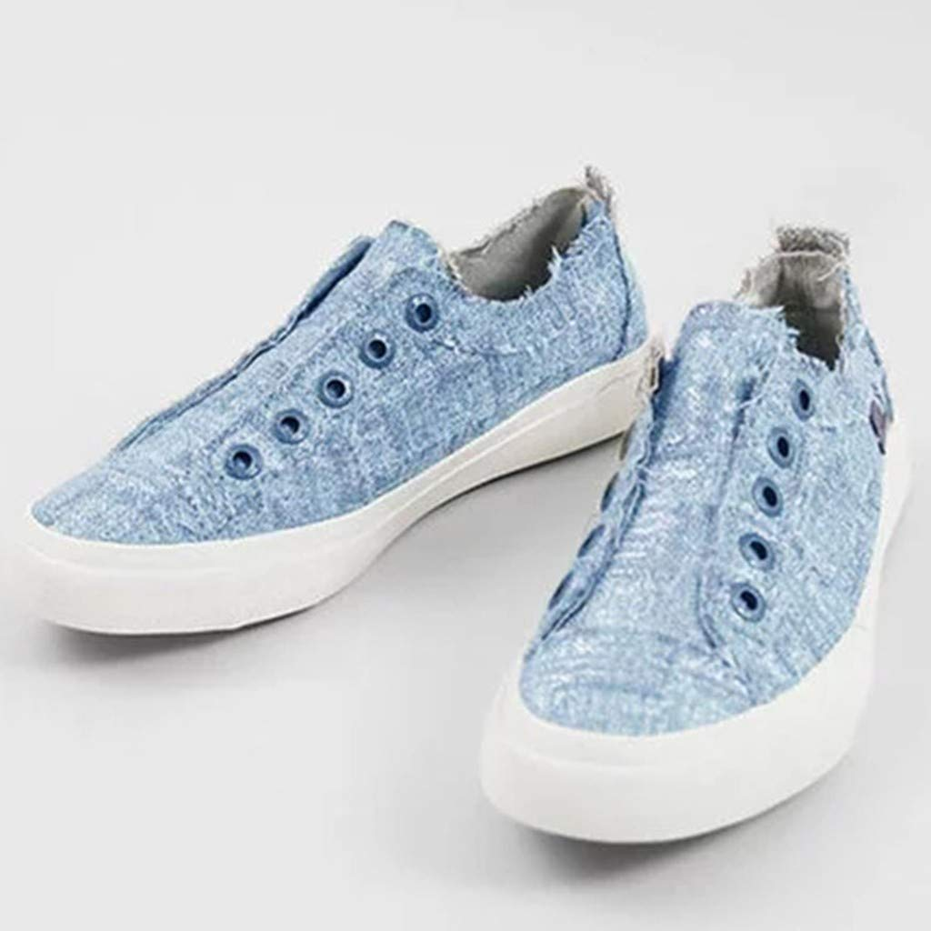 Women Canvas Shoes Casual Shoes Ladies Low Slip-on Flat Breath Freely Summer Leisure Shoes
