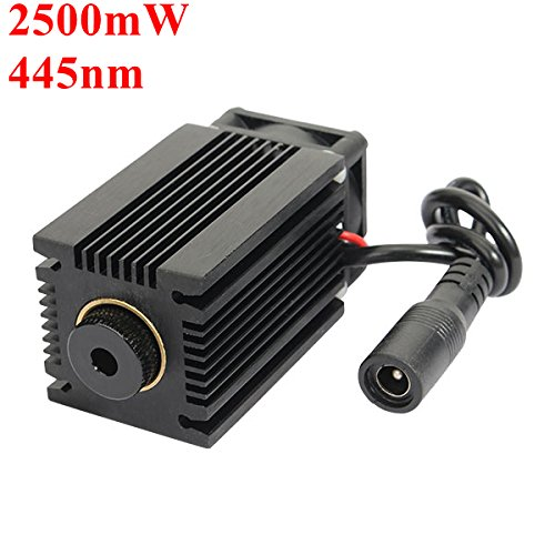 445nm 2.5W 2500mW Blue Laser Module With Heatsink For DIY Laser Cutter Engraver by Artee Shop