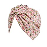 LNGRY 3-8T Kids Baby Girls Dot Casual Hat Beanie Scarf Turban Head Wrap Cap (Pink)