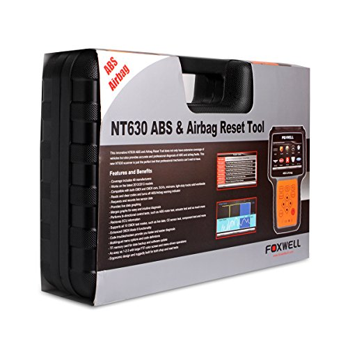 FOXWELL NT630 Plus SRS Automotive OBD2 Scan OBD II ABS Bleeding Diagnostic  Scanners Air Bag Engine Light Reset Tool
