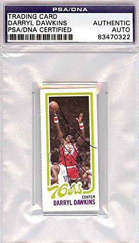 Darryl Dawkins Autographed Signed 1980 Topps Card 76ers #83470322 - PSA/DNA Certified - Basketball Autographed Cards 1980 Philadelphia 76ers