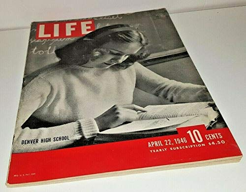 LIFE Magazine - April 22, 1946 - high school student