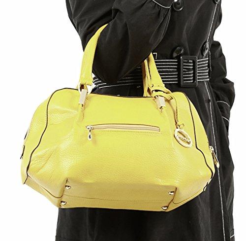 2-in-1 Satchel Handbag (yellow)