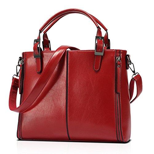 mefly nuevo portátil bolso bolsa de Messager de hombro de moda para mujer, Claret Claret
