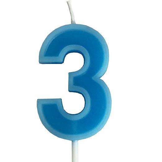 PartyMart - Vela metálica número 1, Color Azul: Amazon.es: Hogar