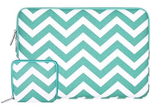 Mosiso Chevron Style Canvas Fabric Laptop Sleeve Case Bag Co