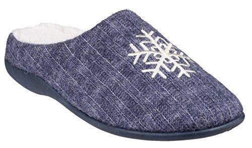 Fleet & Foster METZ Ladies Mule Slippers Blue Blue YYpk9llYa