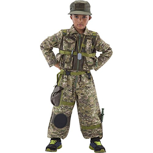 Teetot Boy's Special Forces Costume with Toy Accessories