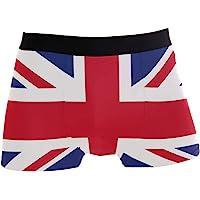 Use4 Union Jack British Flag Men's Underwear Regular Leg Boxer Brief