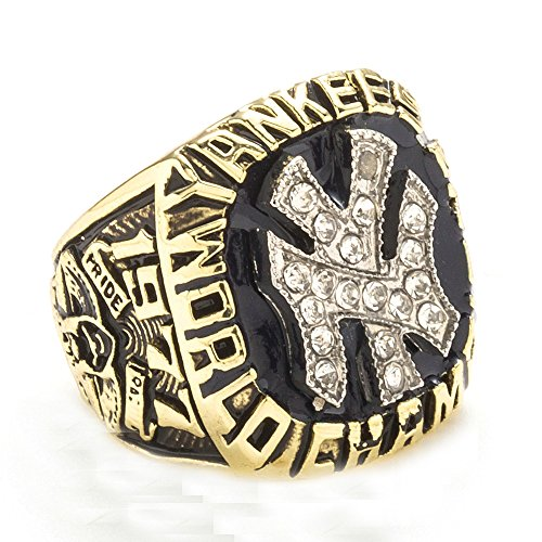 Men's The Year 1977 Of Yankees Championship Rings,Size 9 ()