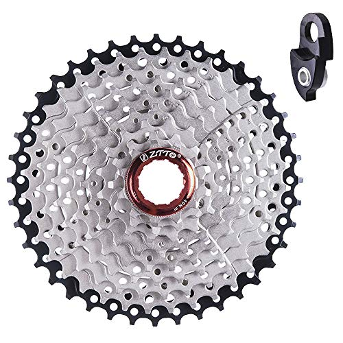 Ztto 9 Speed Cassette 11-40 T for Shimano Hub Mountain Bike MTB Bicycle with Rear Derailleur Hanger ()